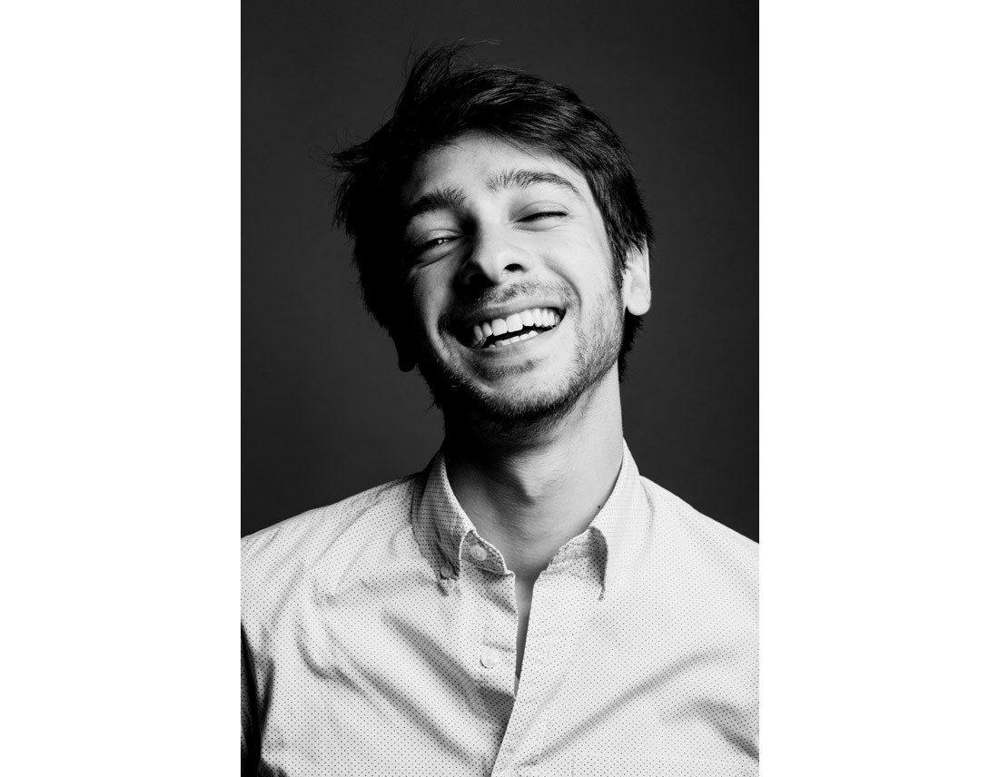 Portrait homme qui rit
