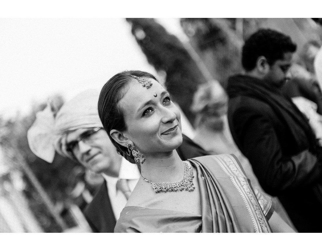 Invitée occidentale a un mariage indien.