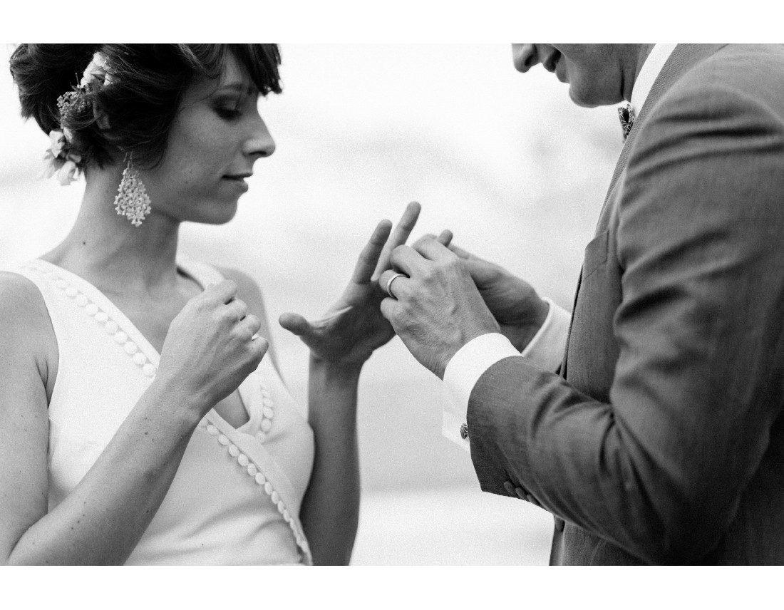 Alliance pendant ceremonie mariage.