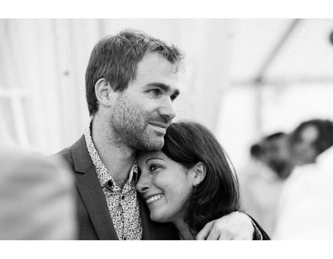 Emotion des invités a un mariage.