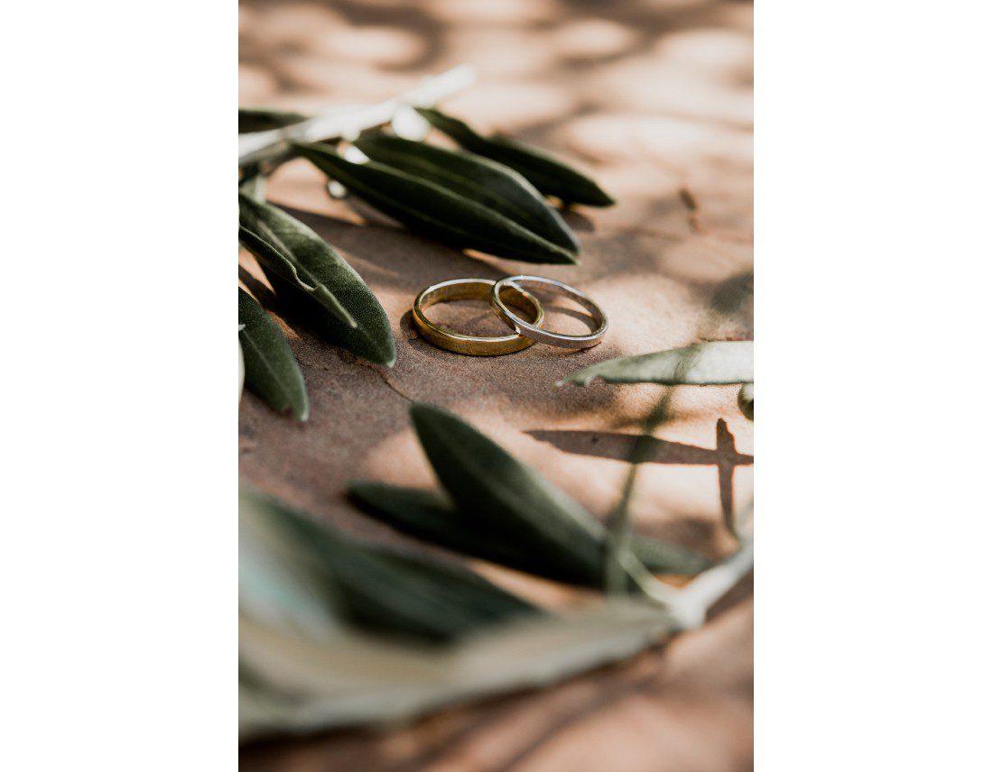 Alliances et feuilles d'olivier