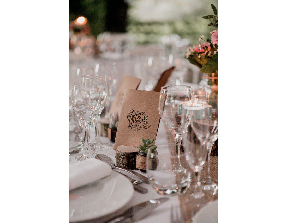 Décoration de table pour mariage champetre.