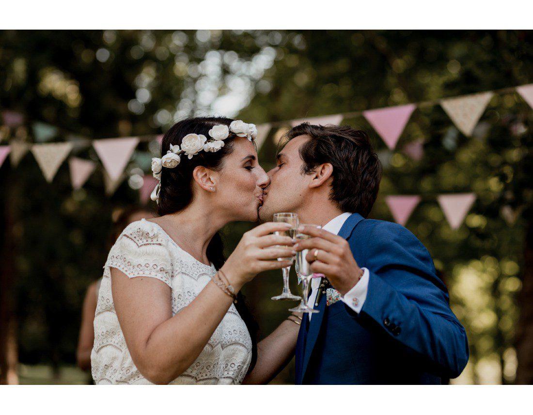 ouverture du cocktail par les mariés