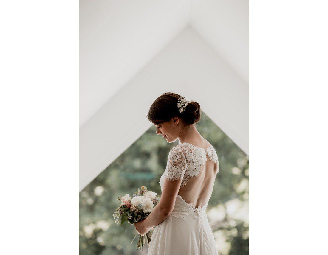 Magnifique Mariée dans sa robe Jesus peiro.
