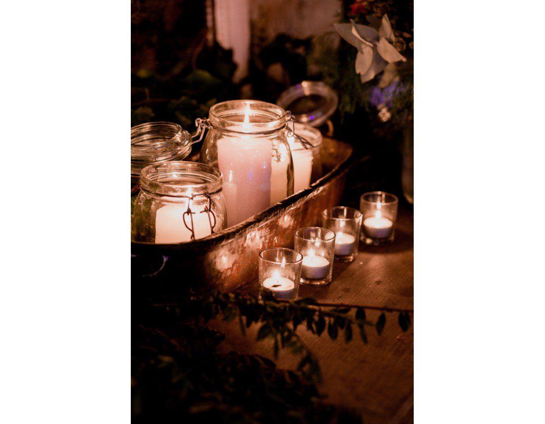 Decoration de bougies lors d'unmariage