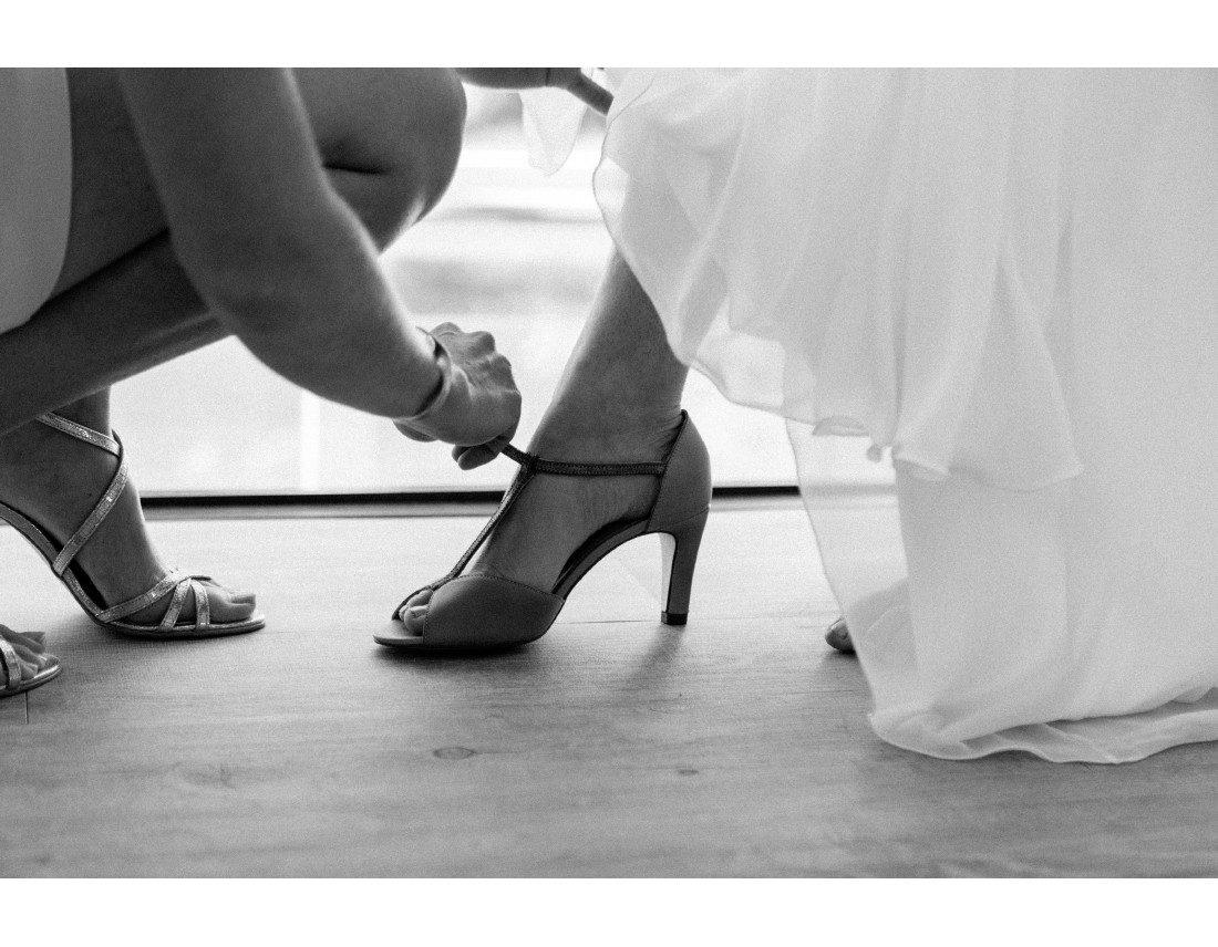 Chaussures de la mariée.