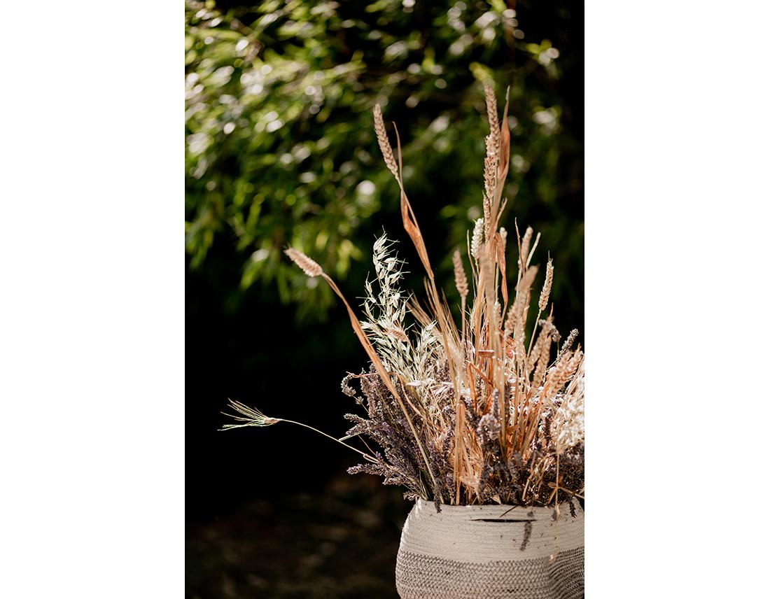 Décoration champetre avec du blé