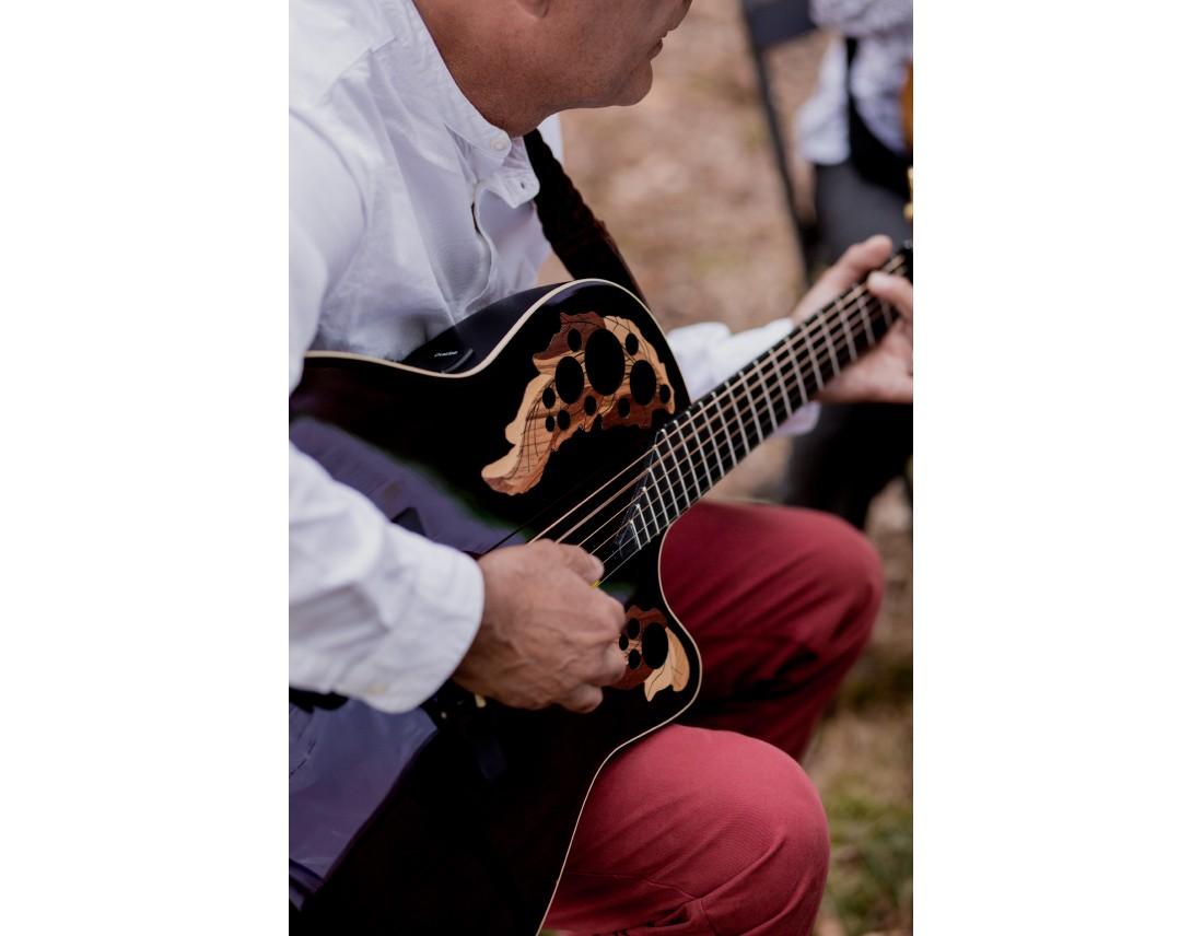 Belle guitare pendant mariage