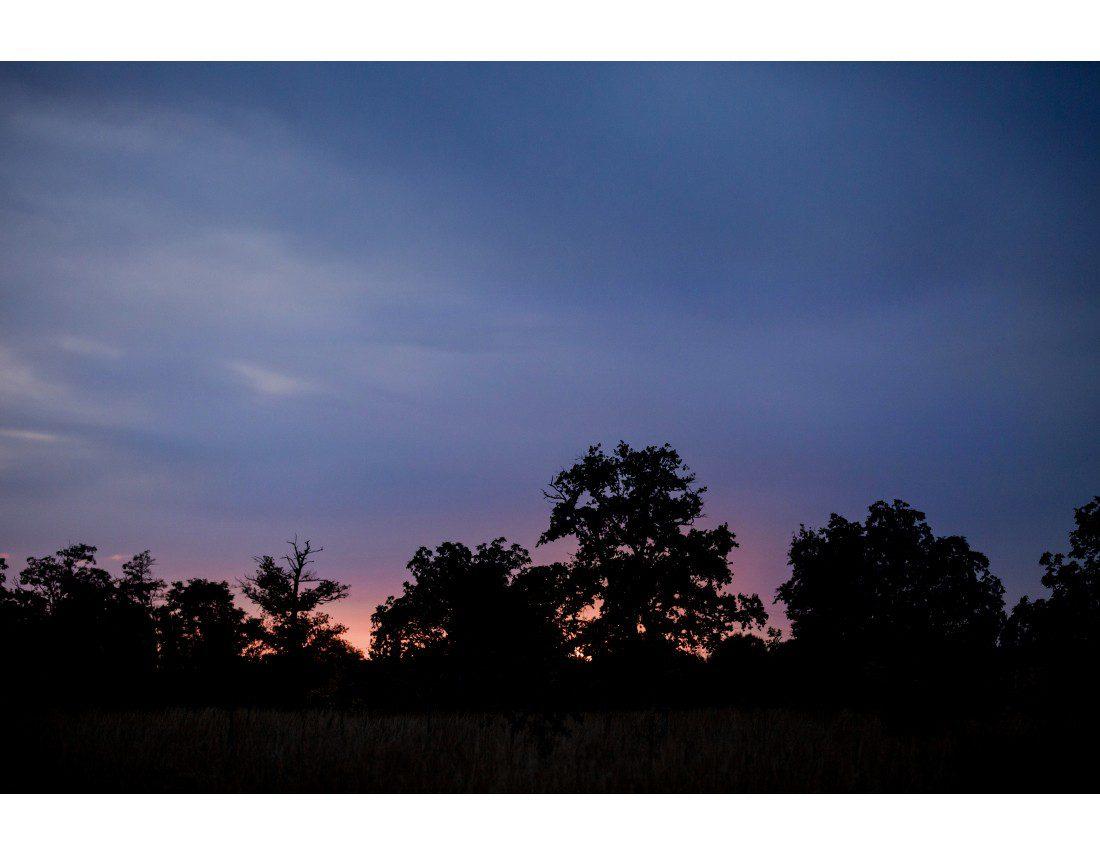 couleur du ciel de Bourgogne au Crepuscule