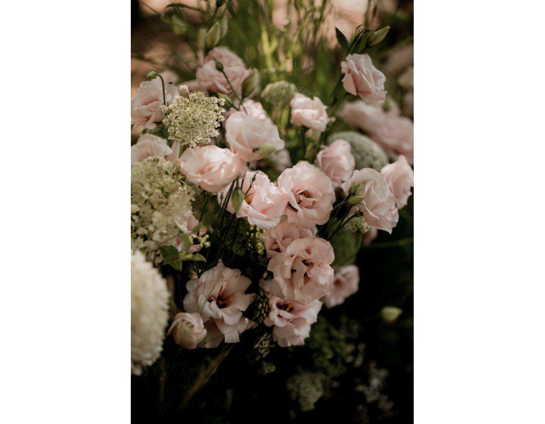 Fleurs lysianthus rose.
