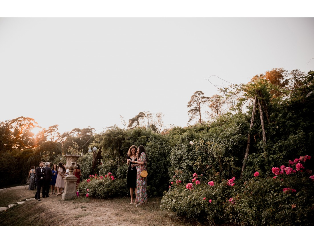 Jardin luxuriant au chateau vallery.