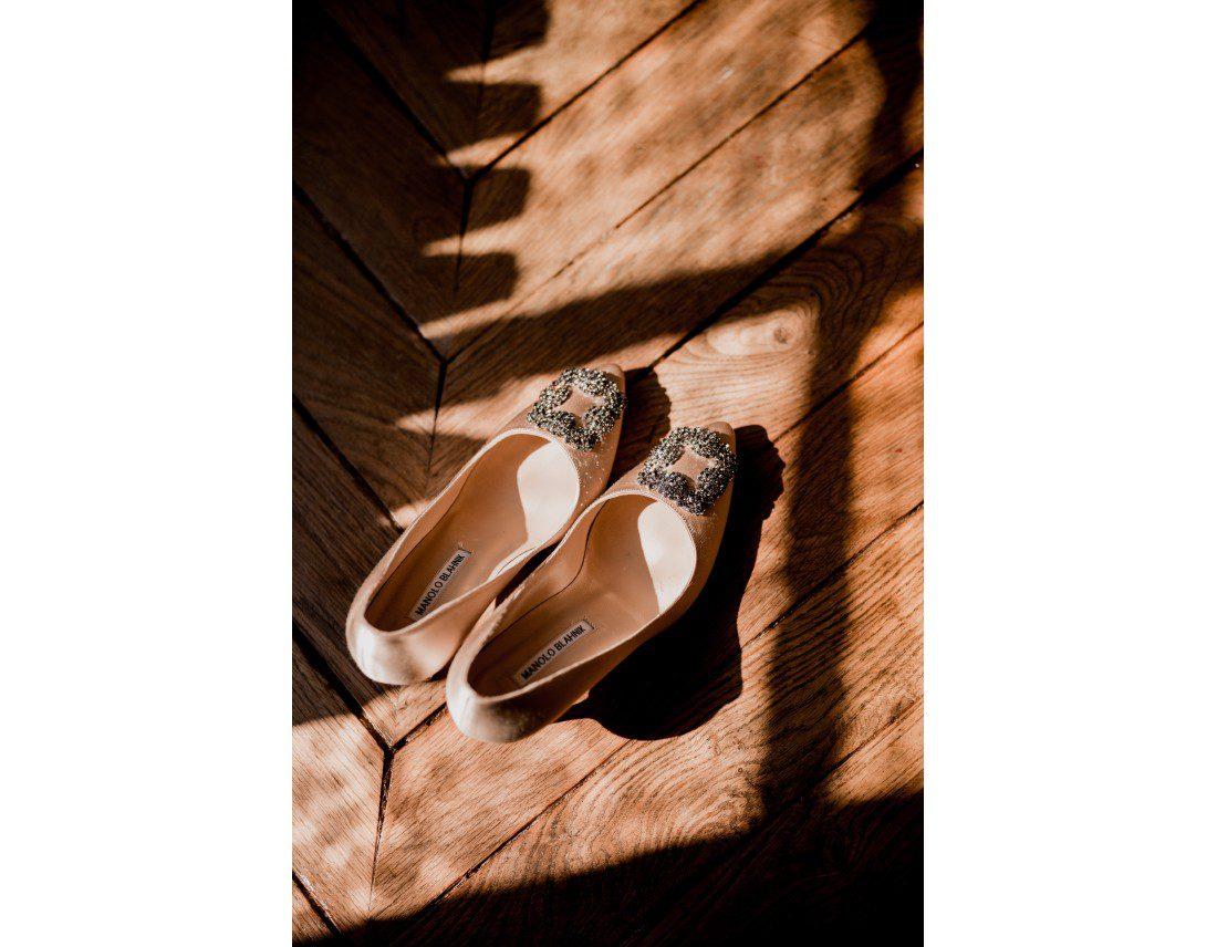chaussures manolo blahnik, de la mariée