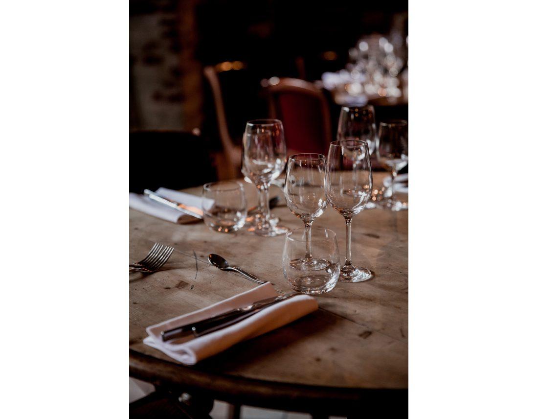 Details de couverts à Commune Image, lieu de reception à St Ouen.