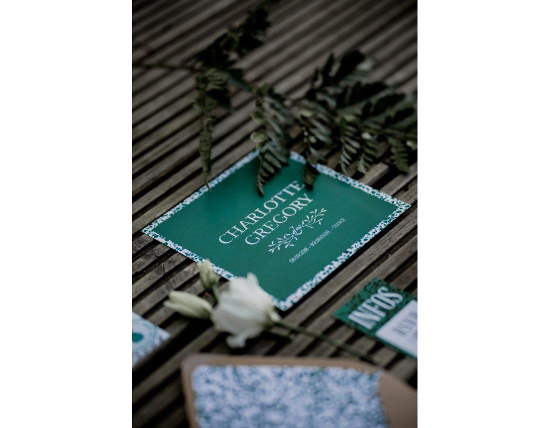 Carton d'invitation poru mariage