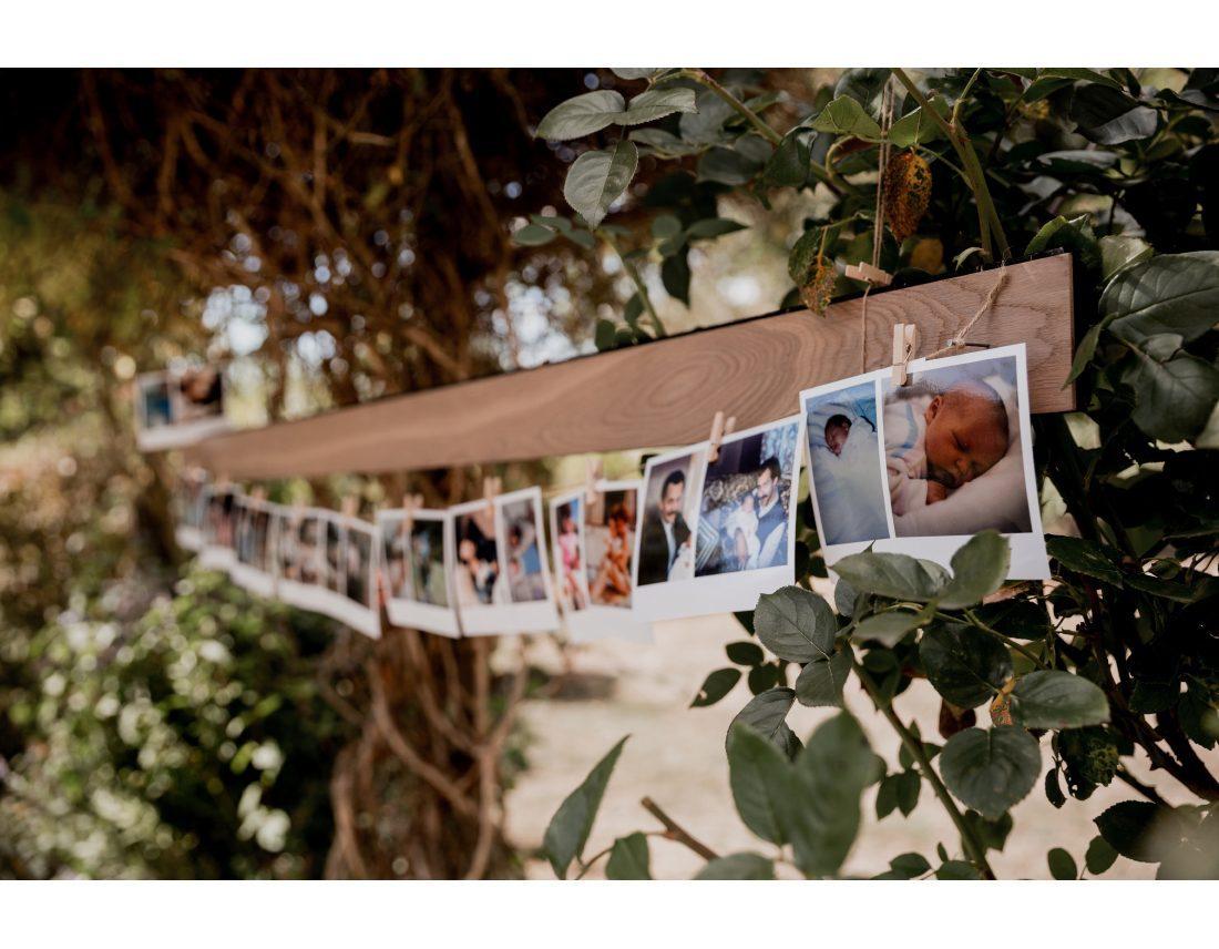 Photos souvenirs lors d'un mariage.