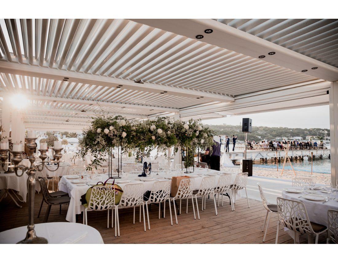 Salle de mariage au restaurant de la plage Keller.