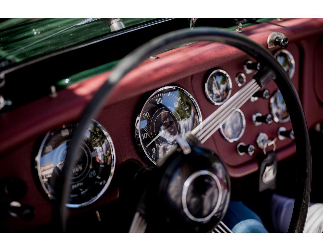 Detail de voiture ancienne.