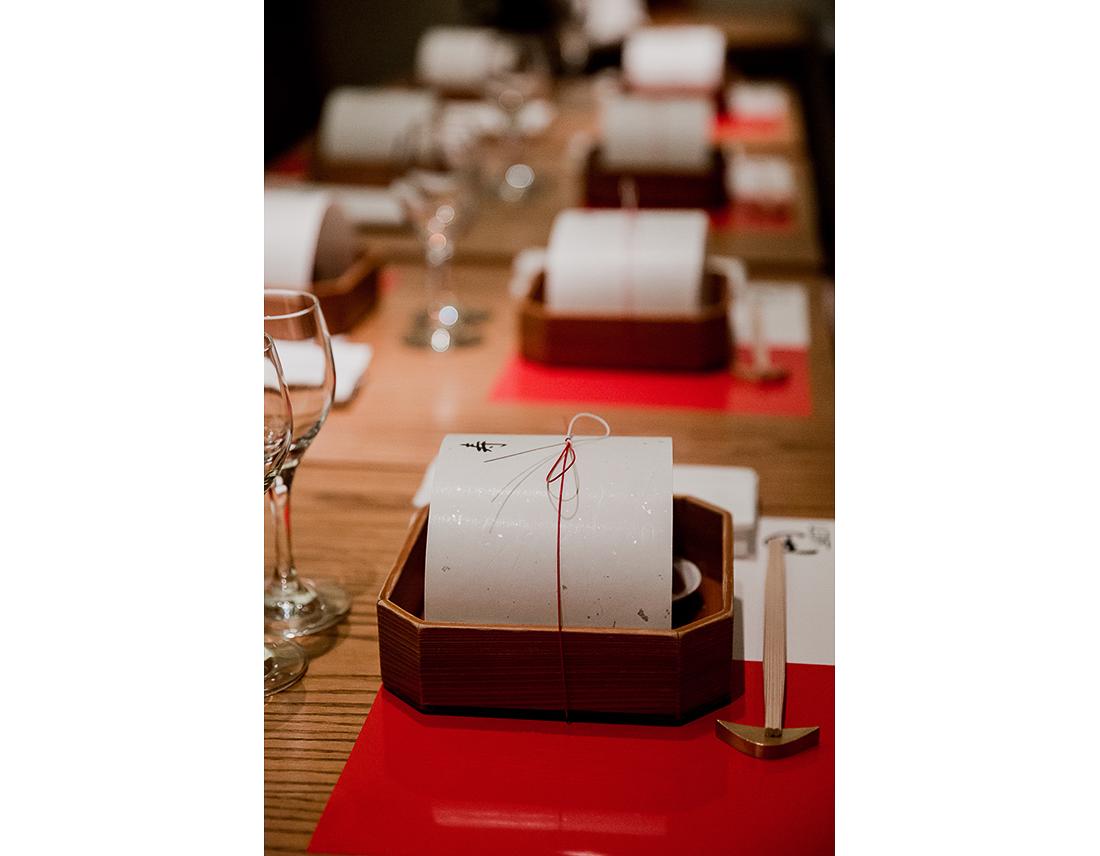 Repas de mariage traditionel japonais, le Yen à Paris.