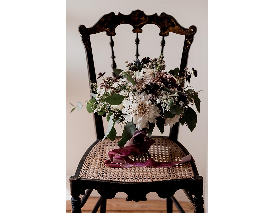 Mariage Boheme Domaine de Ronsard fleurs
