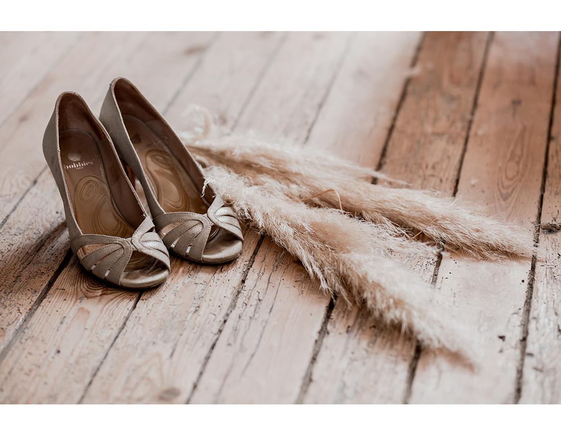Mariage Boheme Domaine de Ronsard chaussures